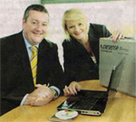 Eddie Butler (Butler Group) and Sarah Doyle (Kinesense)