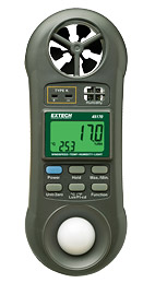 Extech 45170: Hygro-Thermo-Anemometer-Light Meter