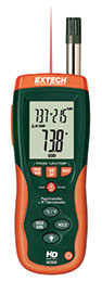 Extech HD550: Psychrometer + IR Thermometer with GPP (g/kg)
