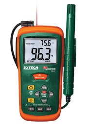 Extech RH101: Hygro-Thermometer + InfraRed Thermometer