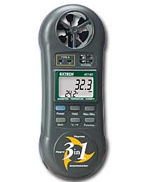 Extech 45160: 3-in-1 Humidity, Temperature and Airflow meter