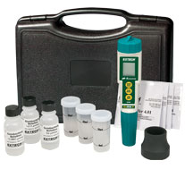 Extech EC510: Waterproof ExStik II pH/Conductivity Meter Kit