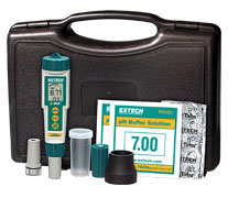 Extech EX800: ExStik 3-in-1 Chlorine, pH, Temperature Kit