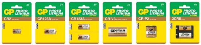 GP Batteries Lithium Cylindrical