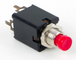 Switchcraft Round Pushbutton Switch PC Mount