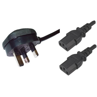 YEG Cabcon UK5A 2m Black 3x0.75 - C5 IEC