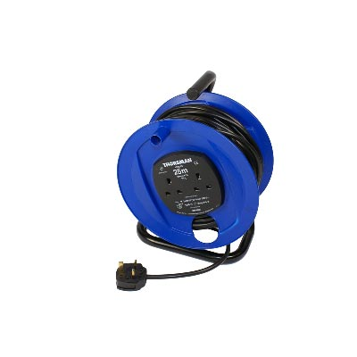 YEG Cabcon 25m 13A Open Cable Extension Reel 240v