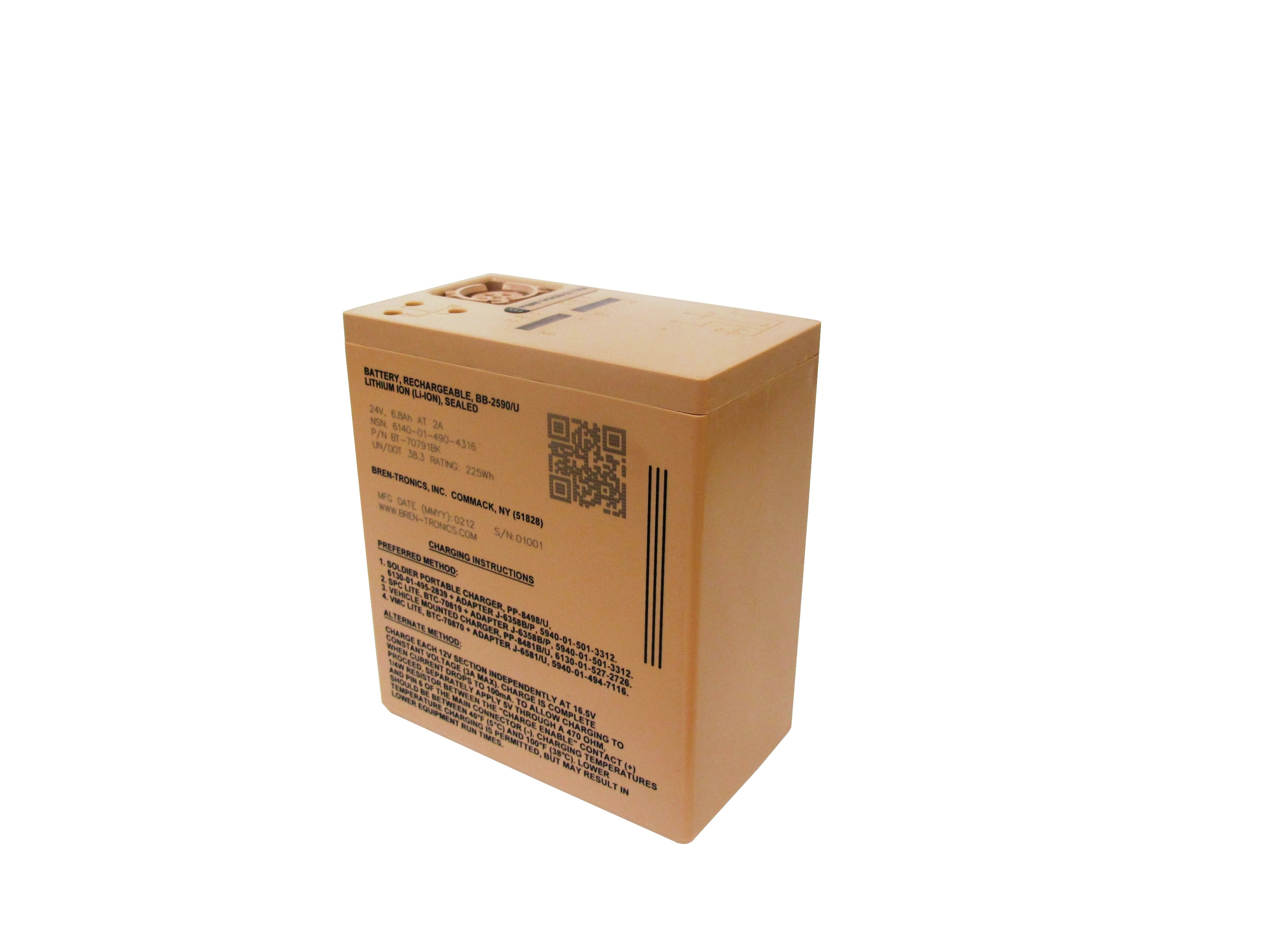 Battery: BT-70791BK (BB-2590/U)