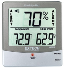 Extech 445814: Hygro-Thermometer Humidity Alert with Dew Point